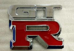 2019 adesivi gtr Auto-styling di alta qualità GTR Metallo Chrome 3D Car Emblema Distintivo adesivo auto GTR metallo adesivo car styling insegne gtr spedizione gratuita adesivi gtr economici