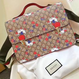mochilas pequenas para meninas Desconto 7-12 anos mochila infantil sacos de pato pequeno abelha flor impressão meninos meninas mochilas marca escola saco frete grátis