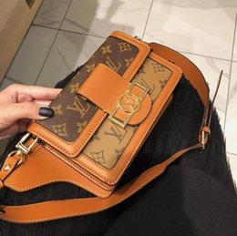 Women fabric wallets online-Bolso popular de la tela escocesa de las mujeres de la moda con la cartera de alta calidad de las mujeres de la tela del cuero de la bolsa de mensajero del logotipo