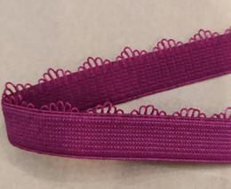 15 rosas cor-de-rosa Desconto Cinto de Nylon mangas Elásticas Fita Elastic Tecido Headband Do Cabelo arco de Costura Fita Guarnição Applique J12712-15 Rose pink Lace Frete grátis