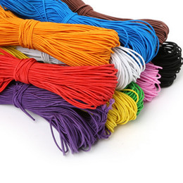 25meters 1MM Beading elastic Stretch Cord Beads Cord String Strap Rope Bead For DIY Bracelet 10 Colors Choice