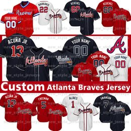 46ac8502 mlb jerseys 2019 - 60 Dallas Keuchel 13 Ronald Acuna Jr Custom Atlanta  jersey Braves Greg