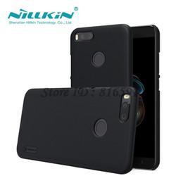 оптовые продажи Mi A1 чехол Nillkin матовый экран жесткий задняя крышка для Xiaomi Mi A1 / 5X / MiA1 / Mi5X подарок держатель телефона от