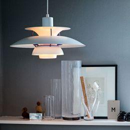 Argentina Lámpara moderna Dinamarca Louis Poulsen PH5 Lámpara colgante Lámpara de dormitorio Blanco Negro Luz colgante Suspensión Droplight Living Comedor Suministro