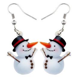 2020 jugendlich zubehör Acryl Weihnachten Happy Snowman Ohrring-Tropfen baumeln Karikatur-Geschenk-Schmucksachen für Frauen-Mädchen-Teen-Partei-Dekoration Zubehör günstig jugendlich zubehör