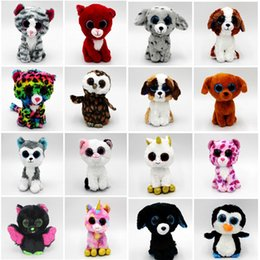 video game beanie Coupons - 20 Styles Ty Beanie Boos Unicorn Plush Stuffed Toys 15cm(6inch) Big Eyes Animals Soft Dolls for baby Birthday Gifts toys C