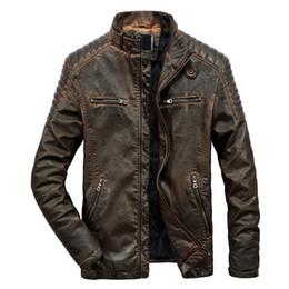Stand ropa ropa ropa online-MRMT 2018 Marca Chaquetas de los hombres del collar del soporte ocasional del abrigo de cuero para la chaqueta de la motocicleta masculina prendas de vestir exteriores ropa