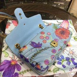 Argentina VeraStore 26cm cuero Bolsos de lujo Bolsos de mujer Blue Flower Designer Bolso de hombro de alta calidad de mujeres Marcas famosas Mujer cheap soft leather handbags blue Suministro