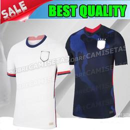 Camisas de futebol de qualidade eua on-line-qualidade tailandês 2020 2021 EUA PULISIC Morgan azul Soccer Jersey 20 21 United States DEMPSEY RAPINOE LLOYD Ertz América Futebol jerseys S-XXL