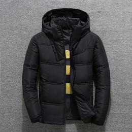 Cappotto uomo jaket online-2019 uomini giacca invernale parka cappotto incappucciato Uomo casuale Outwear Jaket inverno degli uomini antivento Rosso Nero Dropshipping