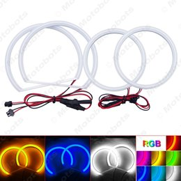 Lancier phares en Ligne-4pcs / set LED voiture Xenon coton Angel Eyes Halo Annulaire LOD Mitsubishi Lancer X phare # 988