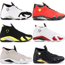 afc9fa82f97 High Quality 14 14s Black Toe Fusion Varsity Red Suede Thunder Men  Basketball Shoes Last Shot DMP Candy Cane Sneakers With Shoes Box