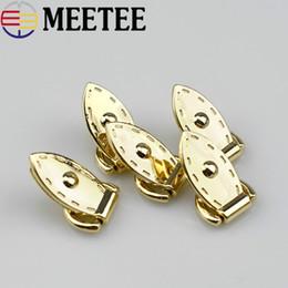 10 pezzi diy bag accessori in metallo banda laterale foglia anello vite appendere borsa gancio fibbia tutti i tipi di rivetto luce oro borsa gancio F1-20 da