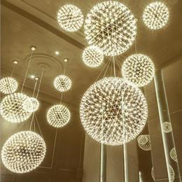 lampadari sferici Sconti Nord Europa lampadario palla scintilla creativa fuochi d'artificio sferiche centro commerciale hall ristorante hotel lampada commerciale scala cielo lampada stella Chandelier