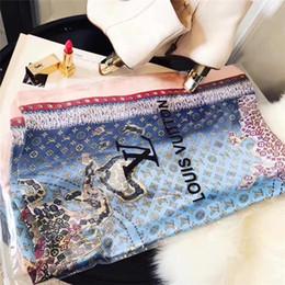 lenços de moda cachecóis Desconto Lenço da forma para As Mulheres marca de seda Lenço Carta costura Lenços Para Wraps Long Wraps Tamanho 180x90 cm sem caixa