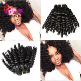 2019 pacotes de cabelo funmi Cutícula Alinhada Virgem Brasileira Remy Feixes de Cabelo Humano Tia Funmi Cutícula Alinhado Duplo Trama Do Cabelo Extensões Atacado Frete Grátis pacotes de cabelo funmi barato