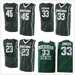 Argentina Hombres 23 Draymond Green Jersey 33 Magic Johnson 45 Denzel Valentine camisetas de baloncesto Michigan State Spartans Jersey Suministro