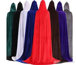 botas de naruto Rebajas Adulto unisex terciopelo color sólido Capa larga con capucha de Halloween del traje del cabo del partido