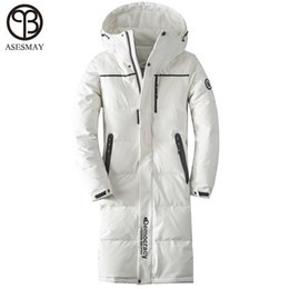 b13ff2780127 Asesmay 2018 Men down jacket men winter coat goose feather long winter  white down jackets thickening warm casual men s parkas