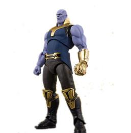 Figuras de gemas online-Avengers 3 Thanos Figuras de acción Gem PVC Figura de acción movible Juguete para adultos Modelo de colección de moda