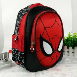 Borse spiderman per bambini online-Hot 3D School Bags For Boys Zaini impermeabili Child Spiderman Book Bag Borsa a tracolla per bambini Satchel Zaino Mochila