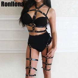 Kadınlar Için kadın Deri Kemer Vücut Koşum Esaret Kemer Sutyen Kafes Ayarlanabilir Yüksek Bel Jartiyer Punk Goth Seksi Jartiyer Rave nereden