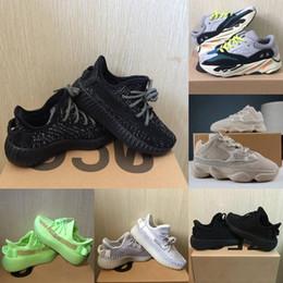 11 12 sapatos para meninos on-line-Sapatos bebê crianças corredor da onda 700 Running Shoes argila V2 estática reflexivos 500 Kanye West Beluga 2,0 Sneakers Boy menina da criança instrutor