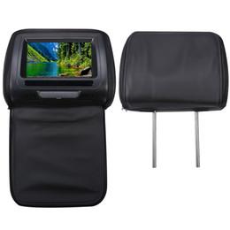 2020 carro tv lcd Com Zipper Tampa 7inch Car Headrest Speaker Video Monitor HD de tela LCD Jogo ajustável Infrared DVD USB Jogador Car Dispaly MP5 desconto carro tv lcd