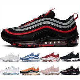 nike air max 97 shoes Designer Herren reflektierende Bred Laufschuhe Männer Frauen South Beach Red Leopard triple schwarz Sunburst Sliver Kugel