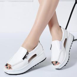 blanca cuña 2019 Cuñas de abiertos del Sandalias 2019 Mujer de dedo la pie zapatos  Verano n1q4fz 53da5b344673