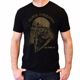 Tony stark t-shirts online-Tony Stark T-Shirt für Herren Black Sabbath Us Tour T-Shirt Merch 78 U.s. USA 1978 T-Shirt Herren Kurzarm Baumwolle Herren Big Shize Shirts Y19072201