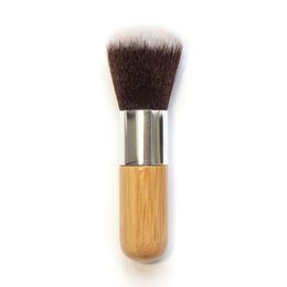 Canada Fond de Maquillage Poignée Bois Poignée Bambou Plat Poignée Ronde Top Pinceau Doux Base Poudre Multifonction Pinceau Fard À Joues RRA996 cheap bamboo makeup Offre