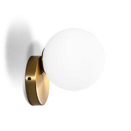 15cm 20cm Lámparas de pared LED de estilo moderno E27 Luces de pared de bola de cristal nórdico para pasillo pasillo Lámpara de mesita de noche Apliques de pared AC85-265V desde fabricantes