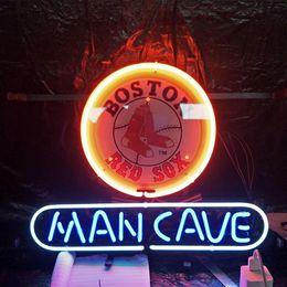 La birra al neon segna la caverna dell'uomo online-Fabbrica Made MAN CAVE Birra al neon segno Design Real Bar pubblicità Decorazione della casa Regalo di arte Display luce al neon telaio in metallo 17 '' 24 '' 30''40 ''
