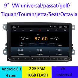 reproductor de mp3 hyundai tucson Rebajas 2019 7 pulgadas Android puro 8.1 Coche DVD Quad Core 16G ROM 1024 * 600 Pantalla Coche Raio para VW Golf mk5 Polo Jetta Tiguan Passat B6 B5 CC Skoda