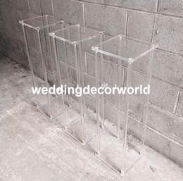vasos de cristal alto Desconto Clássico alto vaso de casamento sisle acrílico passagem de cristal passarela decor615