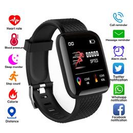 116 Plus Relógio Inteligente Pulseira de Vibração da Pressão Arterial de Pressão Arterial Heart Rate Call Reminder Mensagem Android Pedômetro Pulseira de Relógio Inteligente de