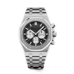 Venda quente dos homens de Alta Qualidade Relógio de Aço Inoxidável 42mm VK Quartz Chronograph Movimento Sports Men Business Sapphire relógio de Pulso de Fornecedores de relógios de pulso