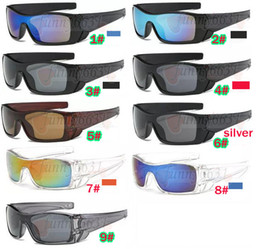 Lunettes femme titane en Ligne-lunettes de soleil d'été pour hommes lunettes de soleil Dazzle couleur lentille Sports Eyewear femmes bicyclette verre plage lunettes de conduite 9colors bateau gratuit