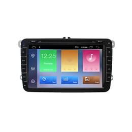dvd de passat Rebajas DSP IPS Car Multimedia player Android 9.0 GPS 2 Din Car DVD Autoradio Radio para VW / Volkswagen / Golf / Polo / Passat / b7 / b6 / SEAT / leon / Skoda