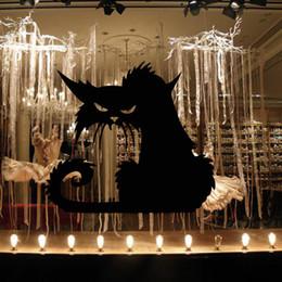 Adesivo de parede gato preto on-line-Novas melhores vendendo parede do Dia das Bruxas adesivos gato preto parede de vidro etiquetas personalizadas adesivos decorativos criativas HY138