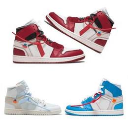 простые белые верхние ботинки Скидка 2019 Высокое качество 1 белый порошок синий баскетбол обувь для мужчин 10X Chicago Bred 1s Mens OFF кроссовки спортивные спортивные кроссовки