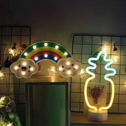 glückliche katze leuchtet Rabatt LED Nachtlicht Warm Cloud Shape Nachttischlampe in für Kinder