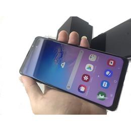 2019 contenitore di android tv sbloccato Goophone S10 PLUS Fingerprint quad core 1GBRAM 8GBROM Schermo intero da 6.5 pollici Cellphone Show 4G LTE android Telefono sbloccato Scatola sigillata contenitore di android tv sbloccato economici