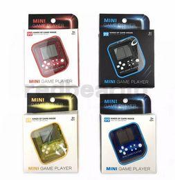 jogador elétrico Desconto Presente de natal Tetris Máquina Mini Game Player Chaveiro Portátil de Plástico Clássico Toy Game Toy Máquina Elétrica Toy Educação para Crianças