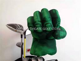 2019 copricapo per il golf Green Hands Fist Boxing Golf Driver Headcover Strong Golf 460cc Copricapo in legno Articoli sportivi Club Accessori Mascotte Novità Grande regalo sconti copricapo per il golf