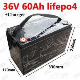 2019 golfbatterien GTK wasserdichte 36V 60AH Lifepo4 Batterie mit BMS für 1500W Roller Fahrrad Dreirad Solar Notstrom Golfwagen + 5A Ladegerät günstig golfbatterien