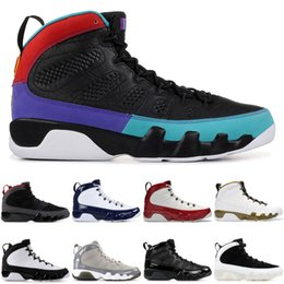 Chaussures Hommes de basket ball Jumpman Dream It Do It Gym Rouge Bred Charbon Cool Gray Jordan 9 Retro 9 UNC Countdown pack Statue Designer