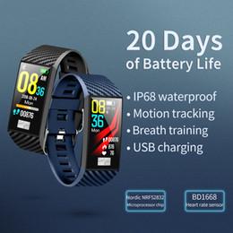 rastreador de celular android Desconto DT58 Pulseira Inteligente Com Monitor de Freqüência Cardíaca ECG Pressão Arterial IP68 Rastreador De Fitness Wrisatband Relógio Inteligente