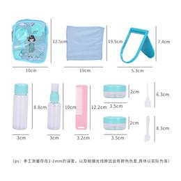 Latas de spray plástico on-line-Cosméticos de viagem portátil sub-garrafa conjunto pequeno regador hidratante garrafa de spray de plástico imprensa